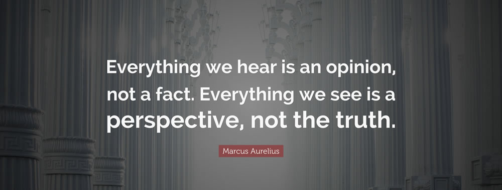 everything we heard is opinion,not a fact
